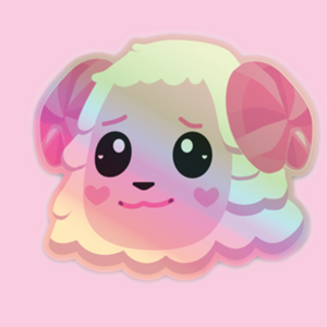 Dom Animal Crossing Holographic Sticker