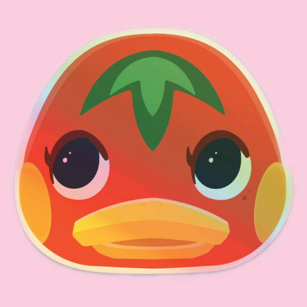 Animal Crossing Ketchup Sticker Holographic Vinyl