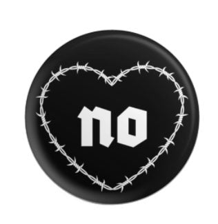 Barbed Wire Goth Button Pin
