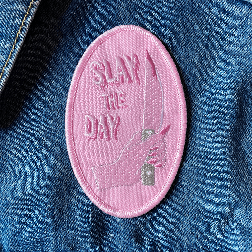 Pink Cute Iron On Patch