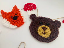 Load image into Gallery viewer, Crochet Woodland Garland Bunting Nursery Home Decor