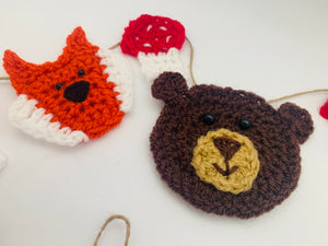 Crochet Woodland Garland Bunting Nursery Home Decor