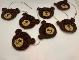 Bear Bunting Garland Woodland  Nursery Home Decor Crochet
