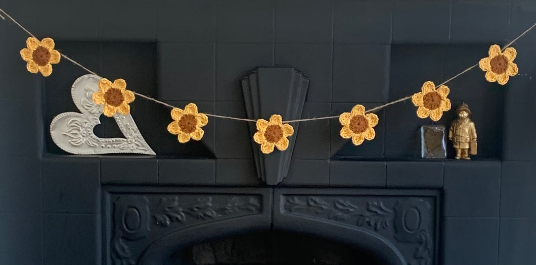 Cotton Sunflower Garland