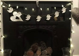 Ghost Bunting Halloween Home Decor