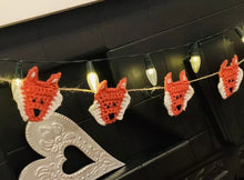 Load image into Gallery viewer, Crochet Fox Bunting