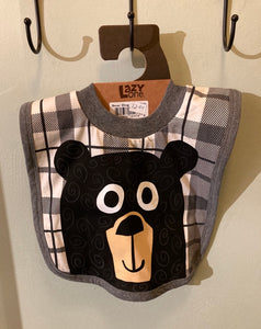Baby - Bib - Bear(Grey)