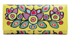 "Oscardo  - Norval Morrisseau - Wallet - ""Floral on Yellow"""