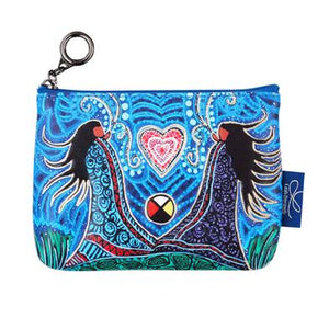 "Oscardo - Leah Dorion - Coin Purse - ""Breath of Life"""