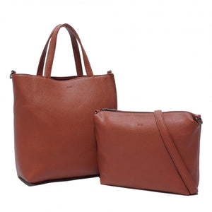 SQ Vegan Charlie 2 in 1 Tote - Rusty Red