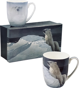 "McIntosh China - Robert Bateman - Set of 2 - ""Polar Bears"""
