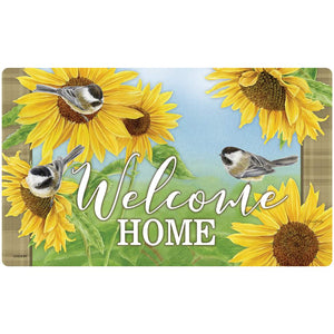 Garden - Carson Indoor/Outdoor Mat - Chickadees and Sunflowers