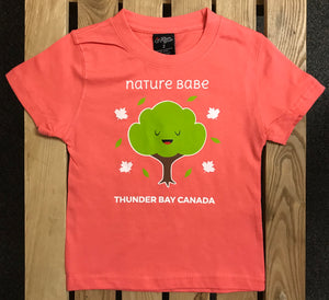 "Kid's T-shirt - ""Nature Babe"", Thunder Bay, Canada - Salmon Pink"