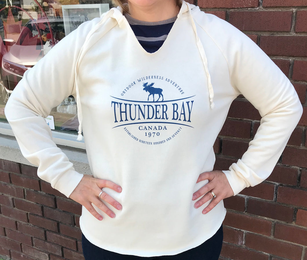 Ladies Sweatshirt - Thunder Bay, Canada, 1970 - Cream