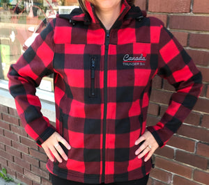 Ladies Plaid Jacket - Thunder Bay, Canada - Red/Black