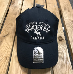 Ball Cap - Thunder Bay, Canada, Co-ordinates - Blue