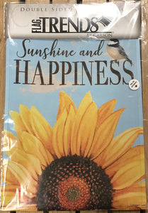 "Garden Flag - ""Sunshine and Happiness"""