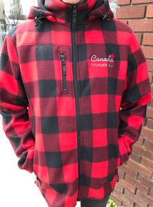 "Men's Hooded Plaid Jacket - ""Thunder Bay, Canada"""