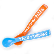 "Load image into Gallery viewer, Baby - Bella Tunno Wonder Spoons - ""Taco Tuesday"""