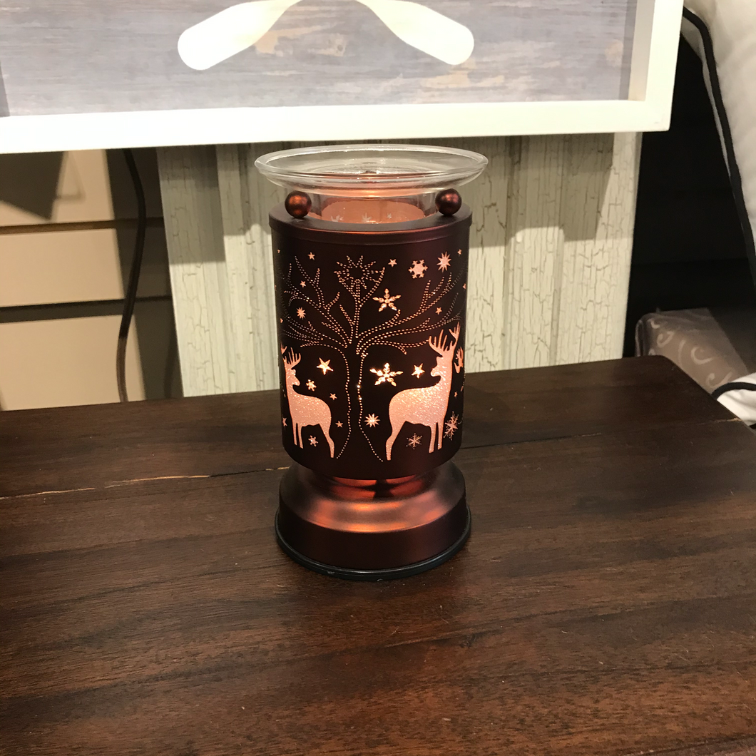 Touch lamp - Copper Reindeer with Diffuser Plate