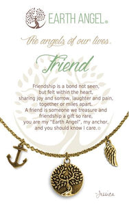"Earth Angel Necklace - ""Friend"""