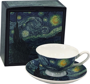"McIntosh China - Van Gogh - Cup and Saucer - ""Starry Night"""
