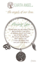 "Load image into Gallery viewer, Earth Angel Bracelet - ""Missing You"""