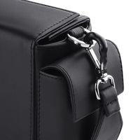 BLACK BRICK BAG & RHINESTONE PUFFY HANDLE - kozhuhar