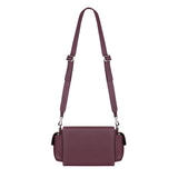 BURGUNDY BRICK BAG & RHINESTONE PUFFY HANDLE - kozhuhar