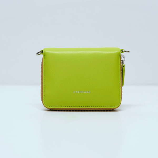 GREEN PUFFY PURSE