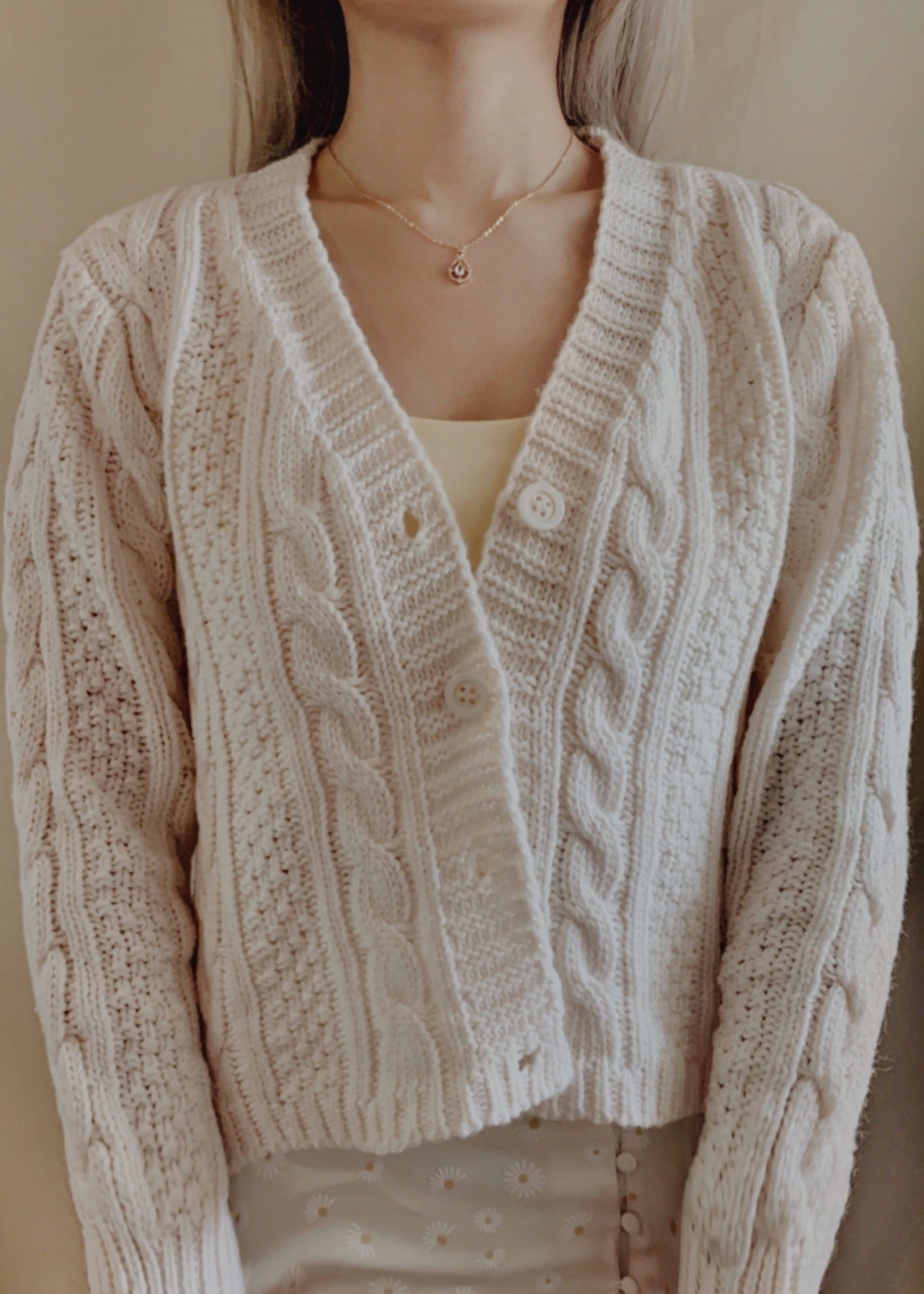 June Cardigan in Cream (Backorder)