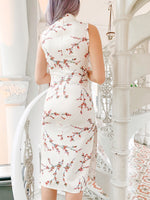 Load image into Gallery viewer, Lunar Bloom Cheongsam in Cream