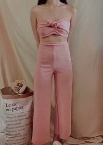 Harmony Two-Piece Set in Blush Pink