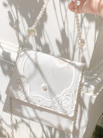 Load image into Gallery viewer, Aphrodite Pearl Bag in White (Backorder)