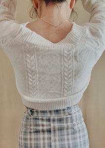 The Cozy Knit Cardigan in Cream