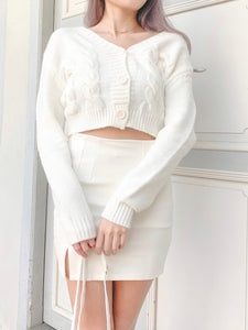 My Favorite Knit Cardigan in White
