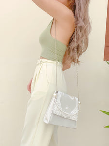 Aphrodite Pearl Bag in White (Backorder)