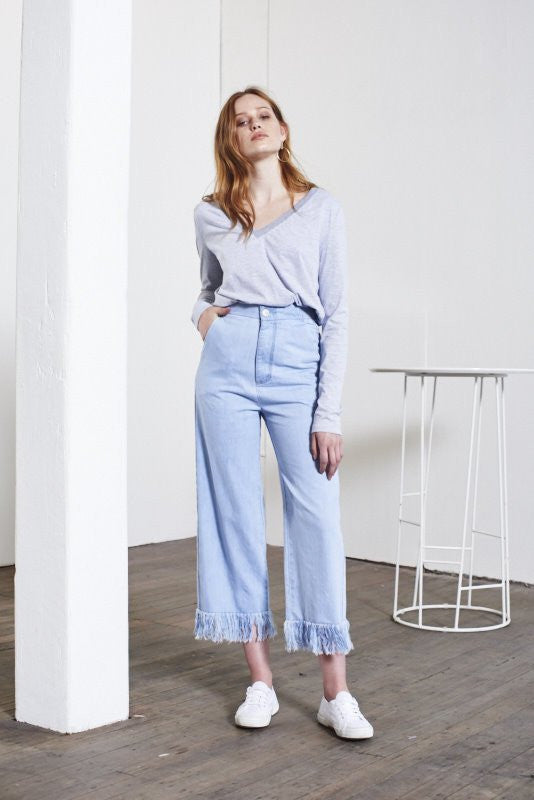 Vale Denim Run Free Fray Culotte