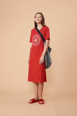 Vale Denim Compass Logo Dress