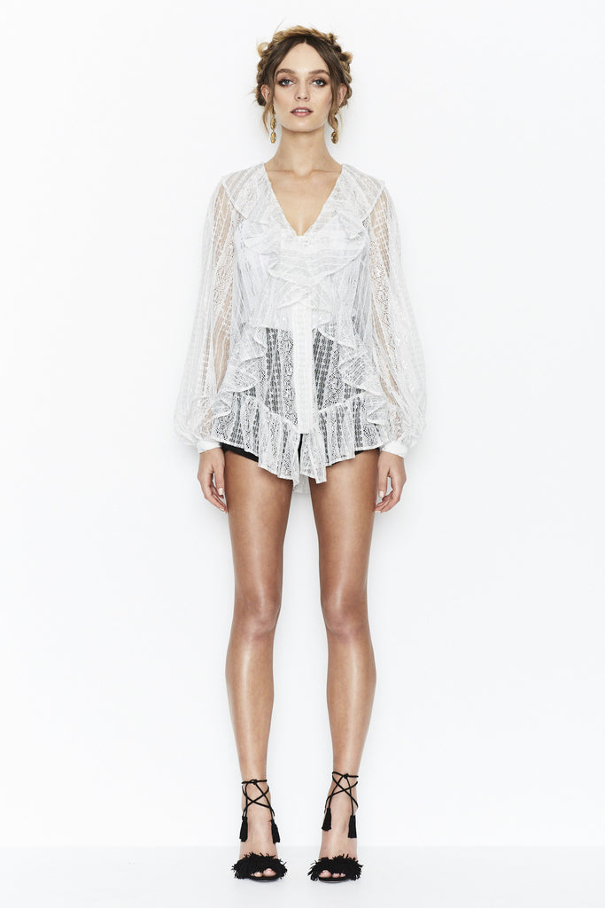 Alice McCall The Look Blouse Silver