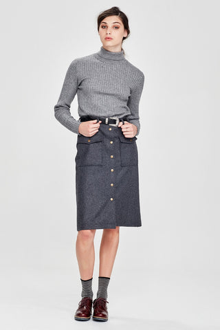 Sylvester by Kate Sylvester Flannel Skirt Char