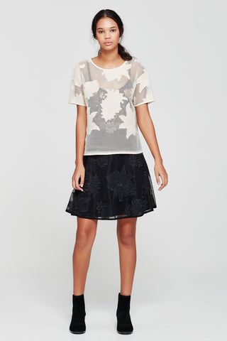 Sylvester by Kate Sylvester Applique Skirt Black