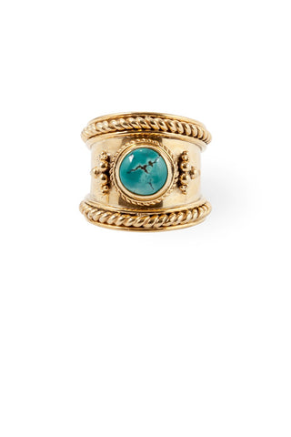 Route508 Boheme Ring Gold & Turquoise