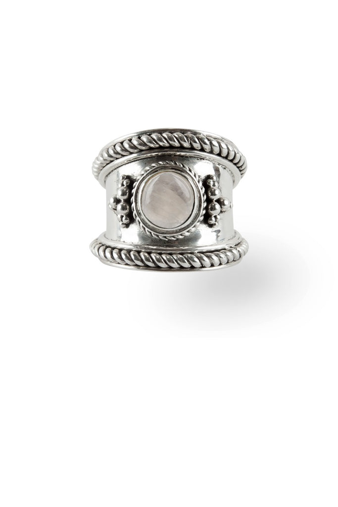 Route508 Boheme Ring Silver & Rainbow Moonstone