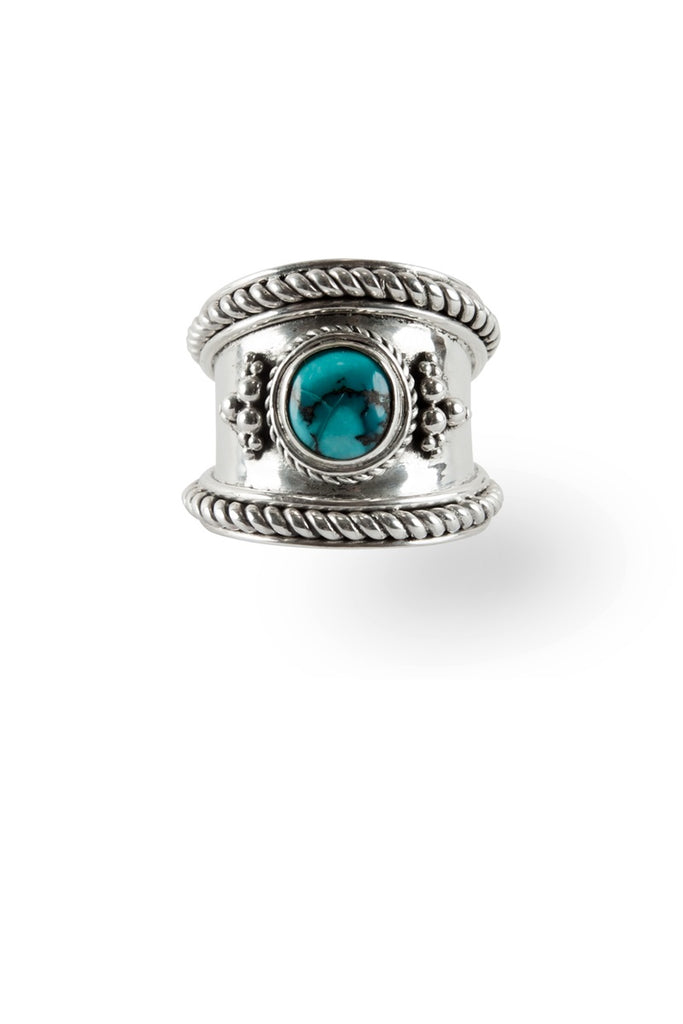 Route508 Boheme Ring Silver & Turquoise