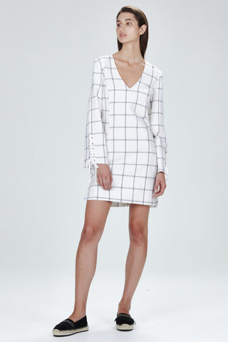Hansen & Gretel Dijon Dress White Check