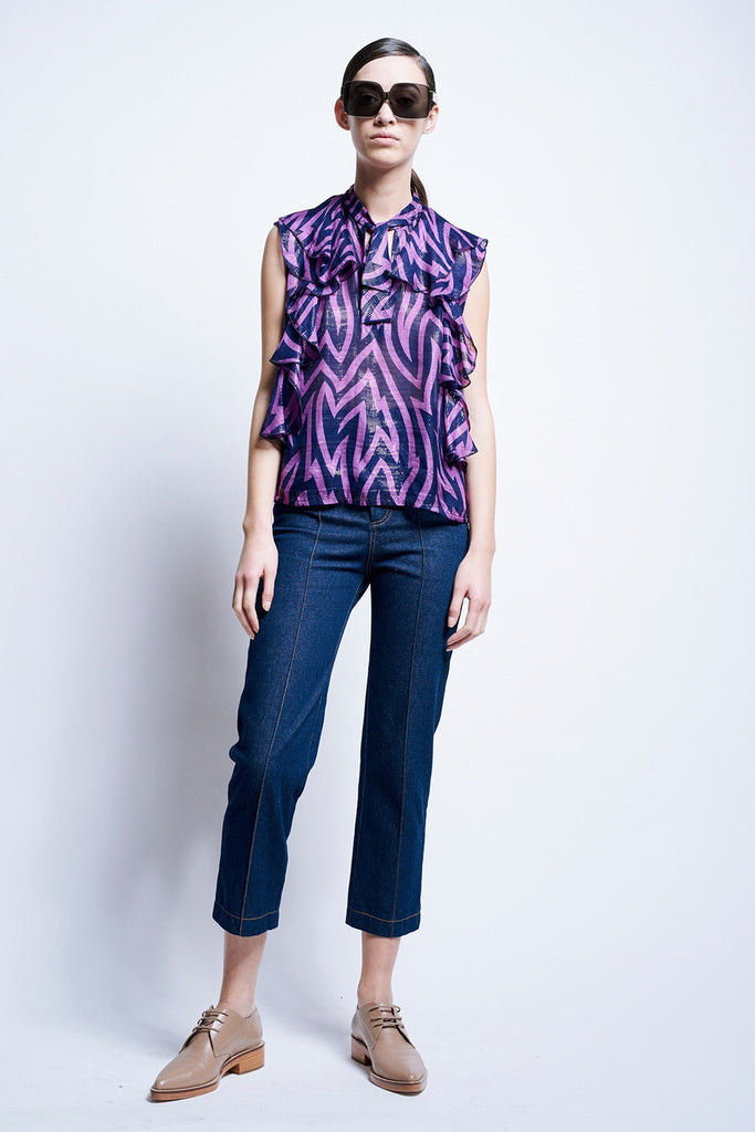 Karen Walker Levy Ruffle Blouse