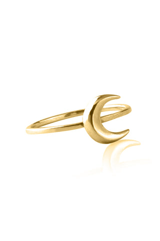 La Luna Rose To The Moon & Back Ring