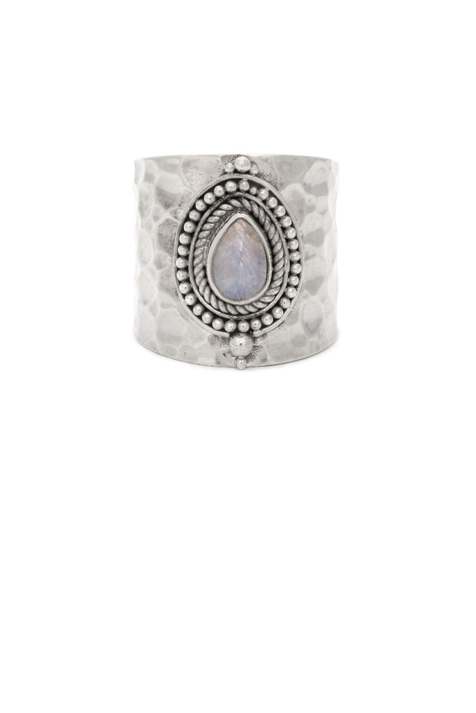 Route508 Sheila Ring Silver & Rainbow Moonstone
