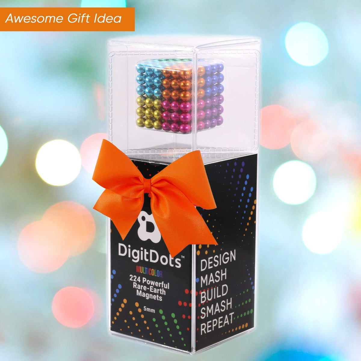 Authentic 5mm DigitDots Multi Colored 224 Pieces Magnetic Balls 8 Colors